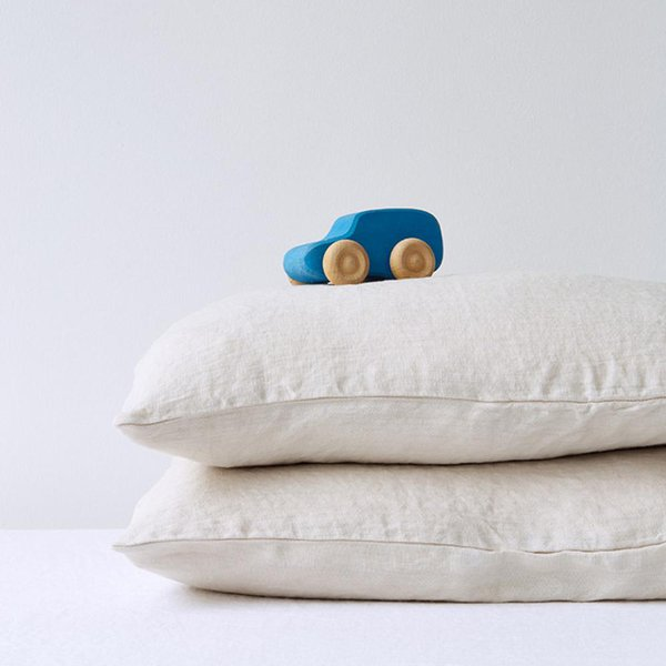 Limited Edition | Beige Kids Washed Linen Pillow Case - Lithuania