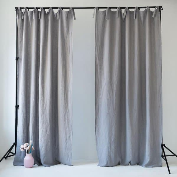 Night Time Tie Top Curtain - Lithuania