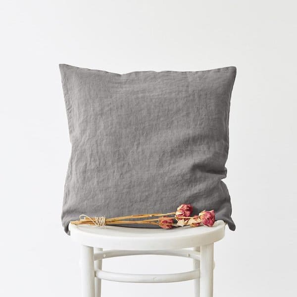 Ash Washed Linen Cushion Cover - Lithuania