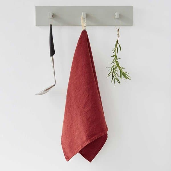 Red Pear Washed Linen Tea Towel - Lithuania