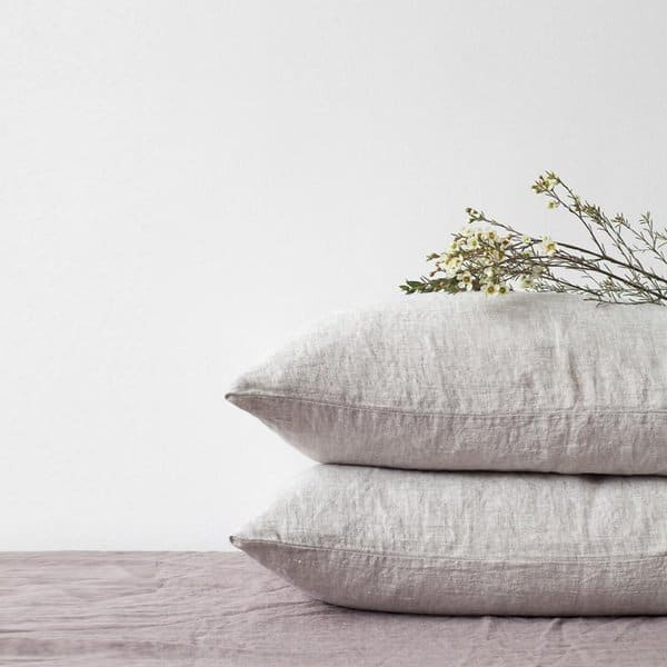 Melange Washed Linen Pillow Case - Lithuania