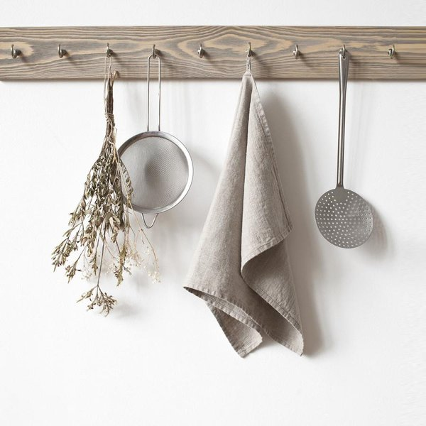 Natural Washed Linen Tea Towel - Lithuania