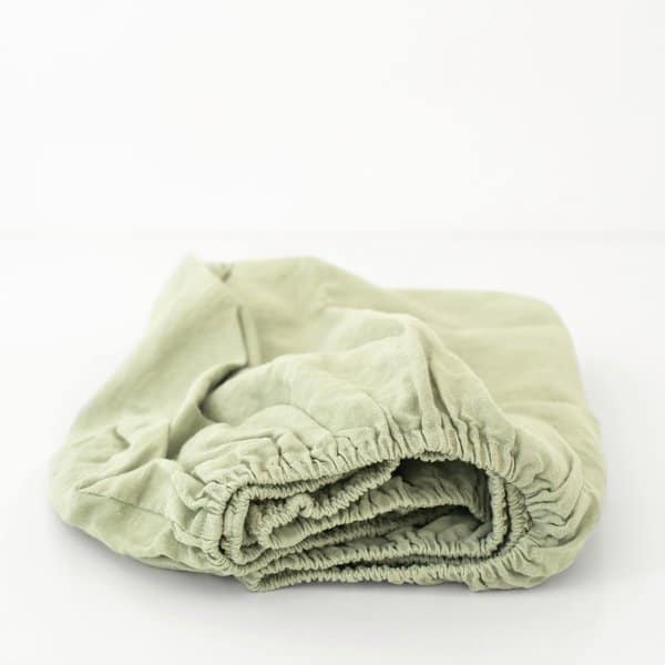 Sage Kids Washed Linen Fitted Sheet - Lithuania