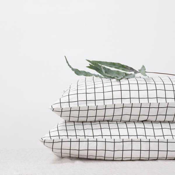 Grid Linen Pillow Case - Lithuania