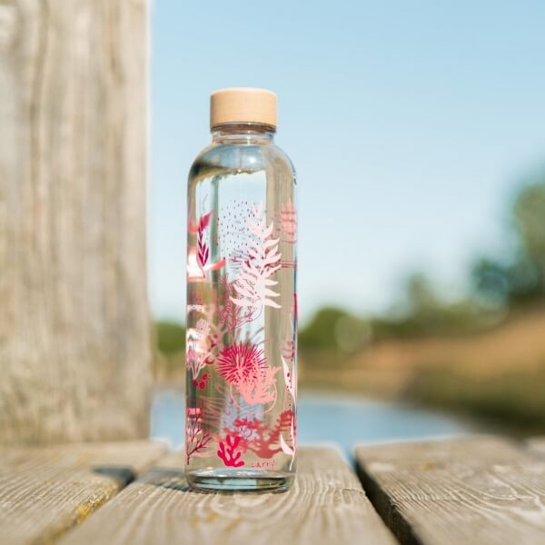 CARRY reusable glass water bottle 700ml - Coral Reef - Germany