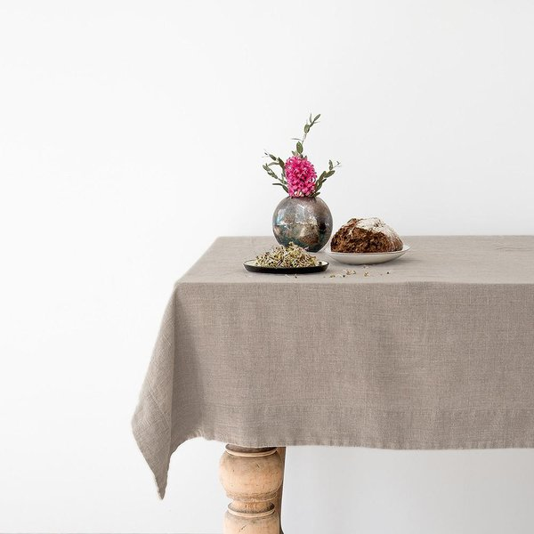 Natural Washed Linen Tablecloth - Lithuania