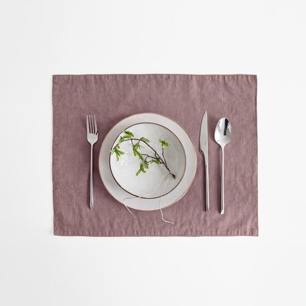 Ashes of Roses Washed Linen Placemat - Lithuania