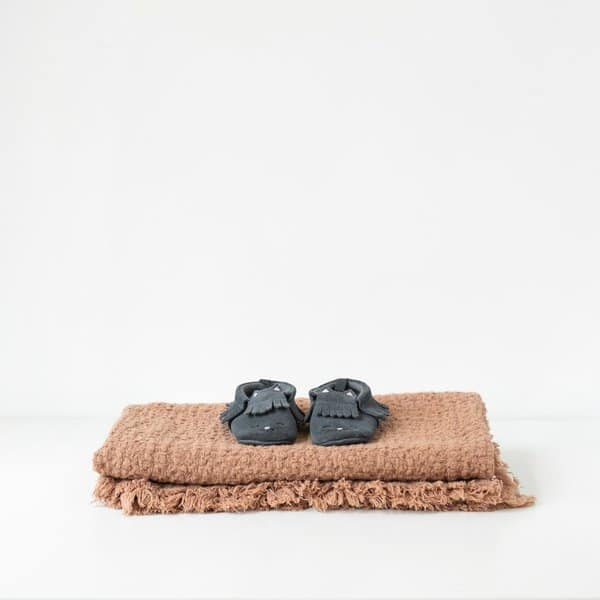 Cafe Creme Kids Washed Linen Waffle Blanket - Lithuania
