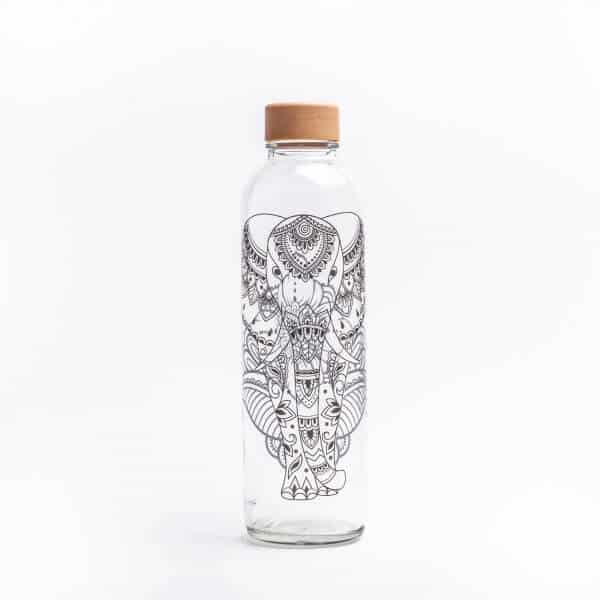 CARRY reusable glass water bottle 700ml - Elephant - Germany
