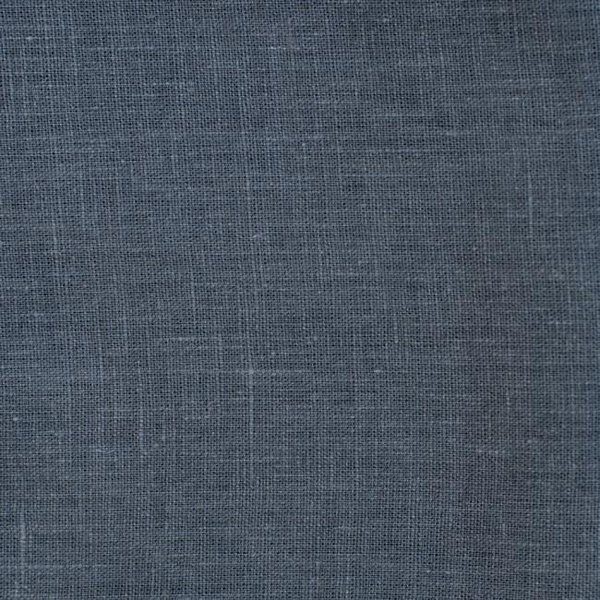 Dark Grey Stone Washed Linen Fabric 215 g/m2 - Lithuania