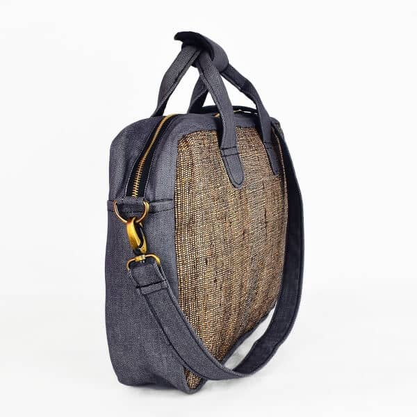 Banana Fiber Sustainable ecofriendly Laptop Bag (Gray Denim) - India