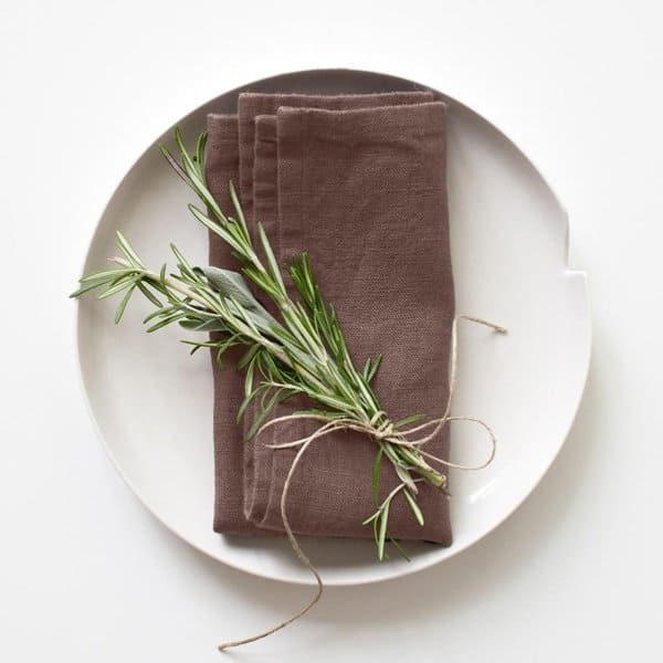 Set of 2 Nutmeg Washed Linen Napkins - Lithuania