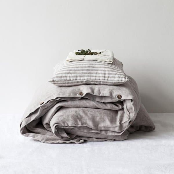 Melange Washed Linen Duvet Cover - Lithuania
