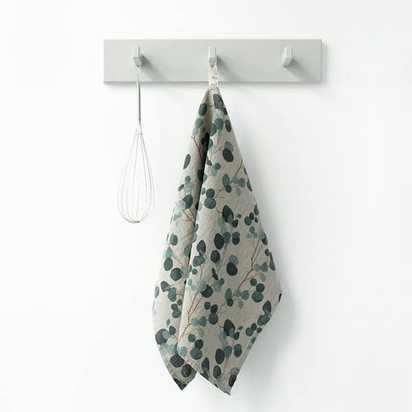 Natural Eucalyptus Washed Linen Tea Towel - Lithuania