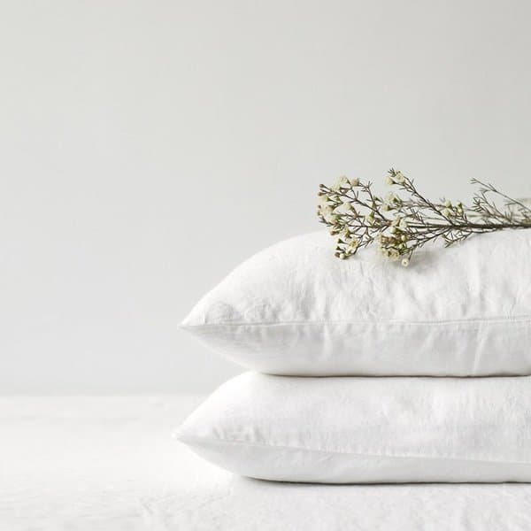 White Washed Linen Pillow Case - Lithuania