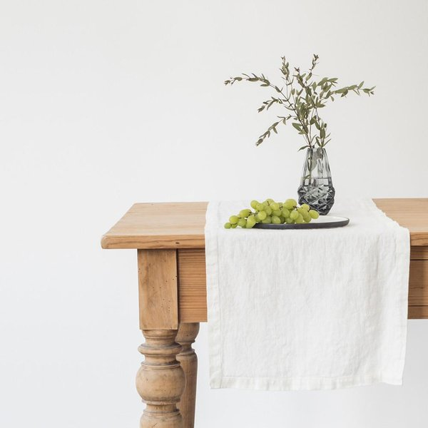 White Linen Table Runner - Lithuania