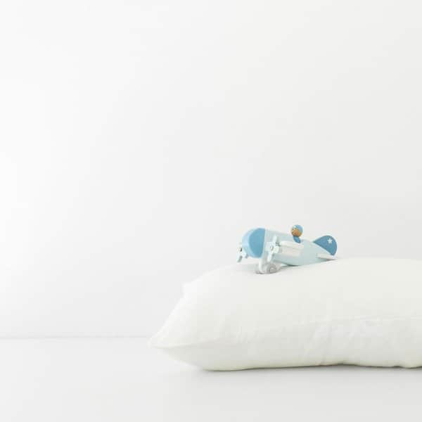 White Kids Washed Linen Pillow Case - Lithuania