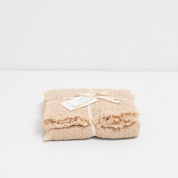 Shifting Sand Kids Washed Linen Waffle Blanket - Lithuania