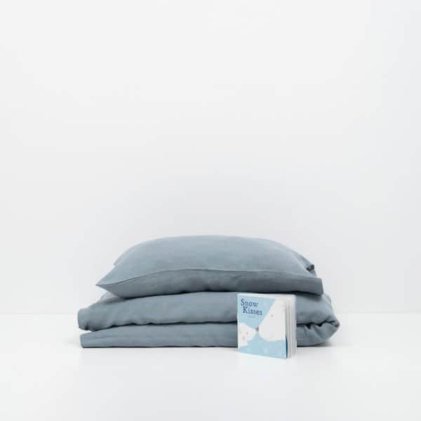 Blue Fog Kids Washed Linen Bed Set - Lithuania