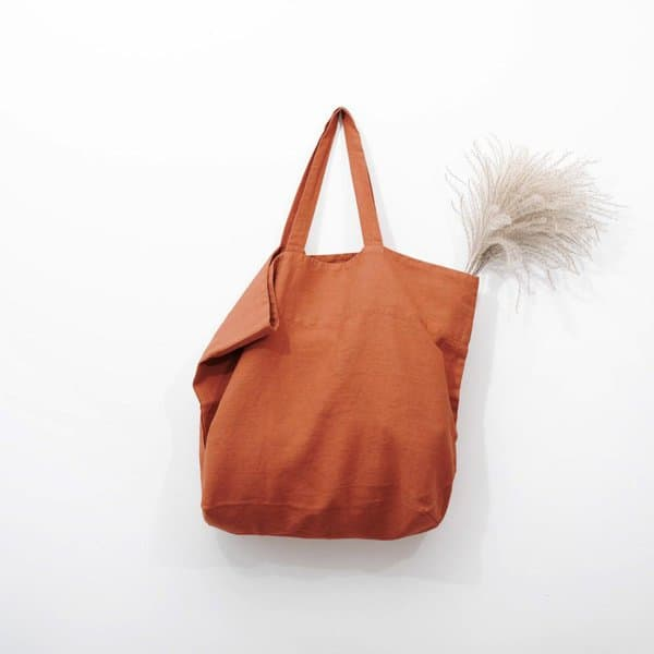 Baked Clay Big Linen Bag - Lithuania