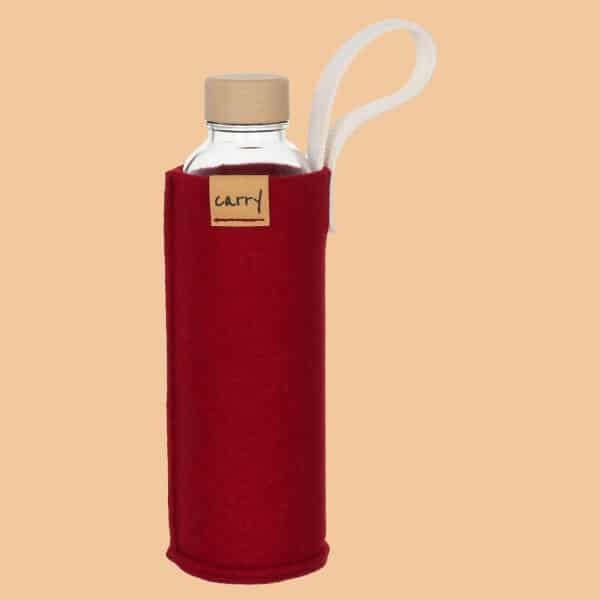 CARRY Sleeve - Schutzhülle aus Recycling-PET-Filz - wine red - Germany