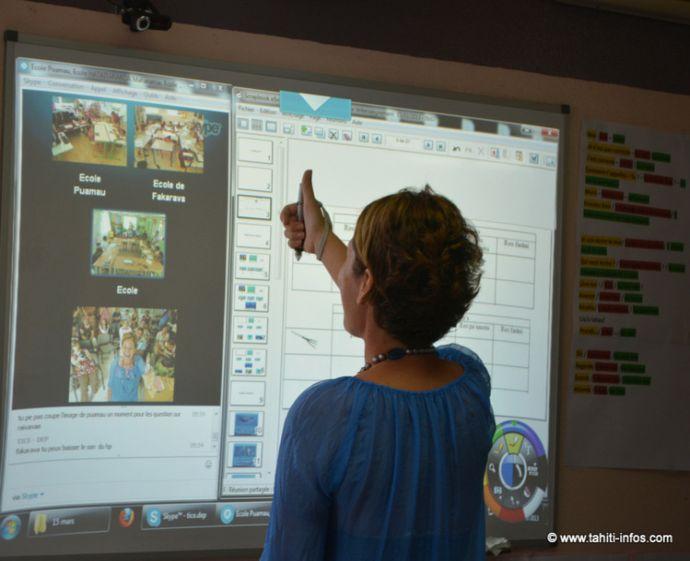 eBeam, tableau interactif à Tahiti.