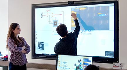 écran interactif école éducation