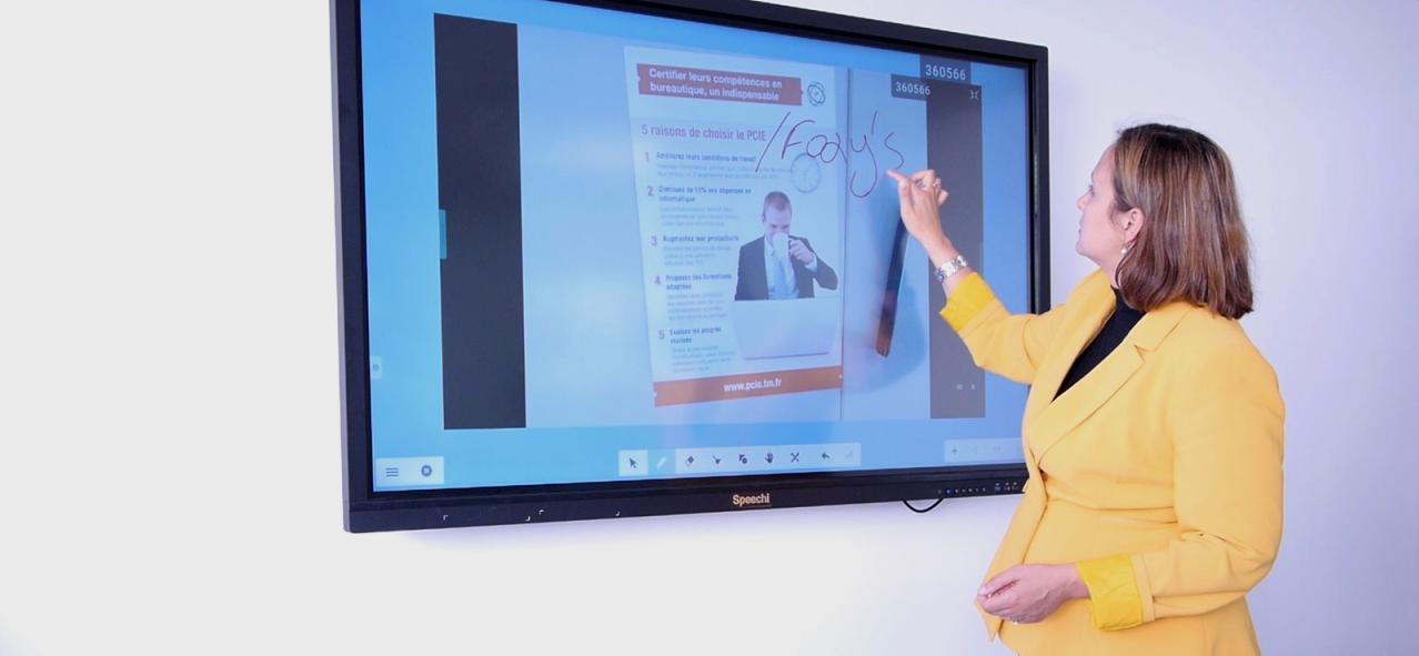 Utiliser l'écran interactif en entreprise pour faire des cartes euristiques