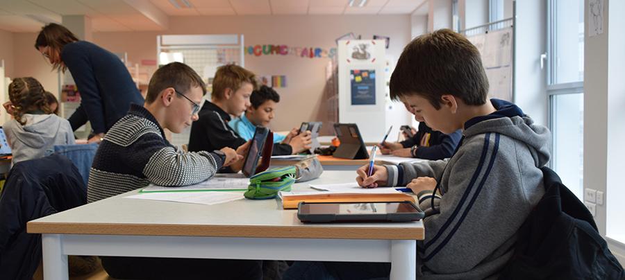 école numérique au colège Jean Moulin
