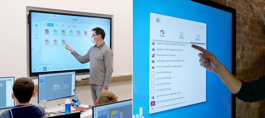 accéder au cloud sur écran interactif en classe ou en réunion