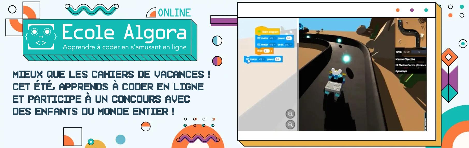 jeu éducatif pour apprendre la programmation en ligne en Scratch pendant les vacances d'été
