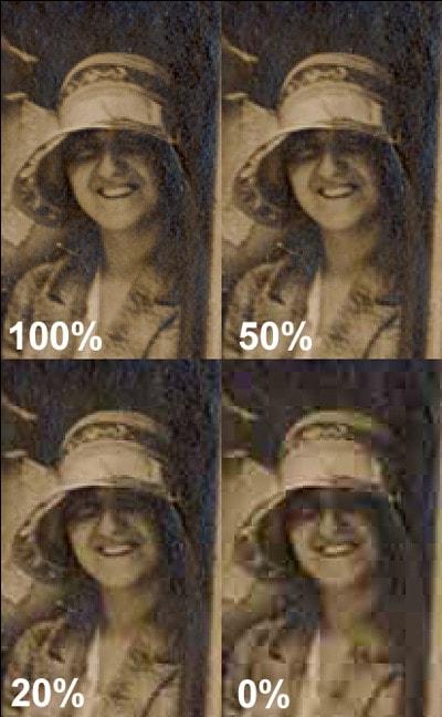 File compression JPEG