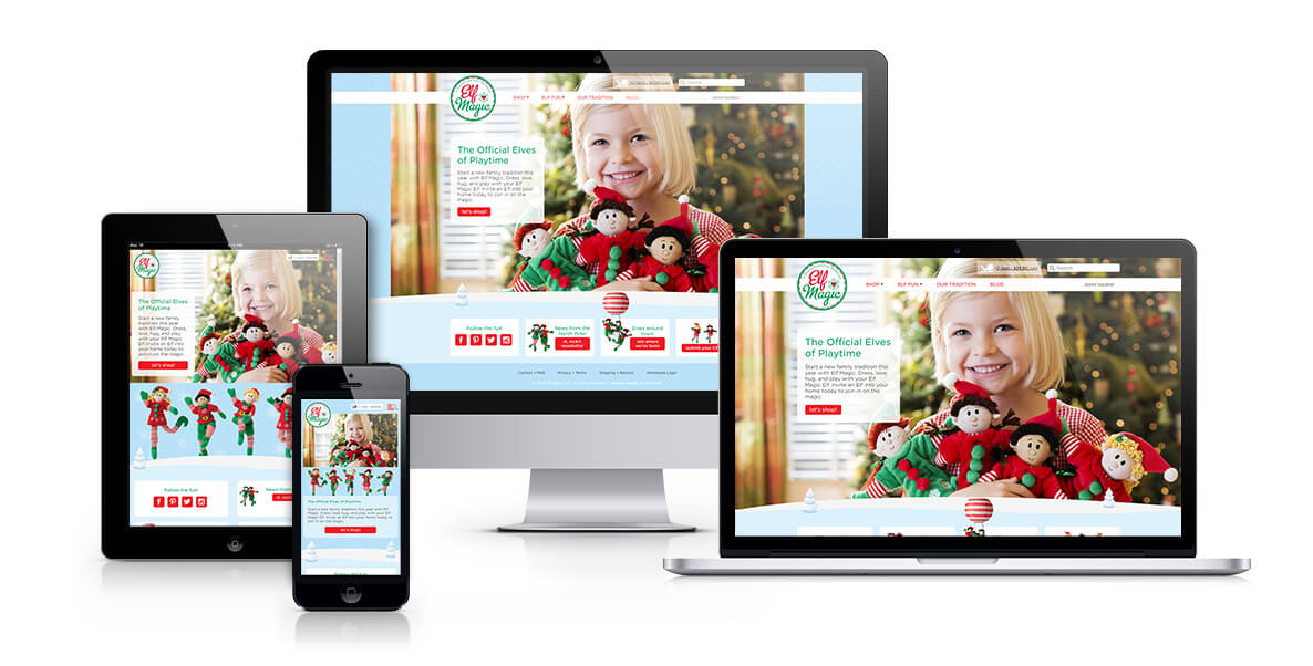 Elf Magic responsive web design