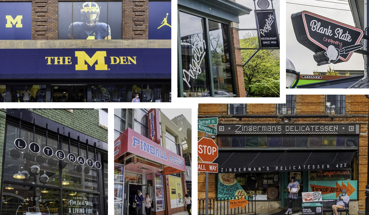 Collage of local businesses