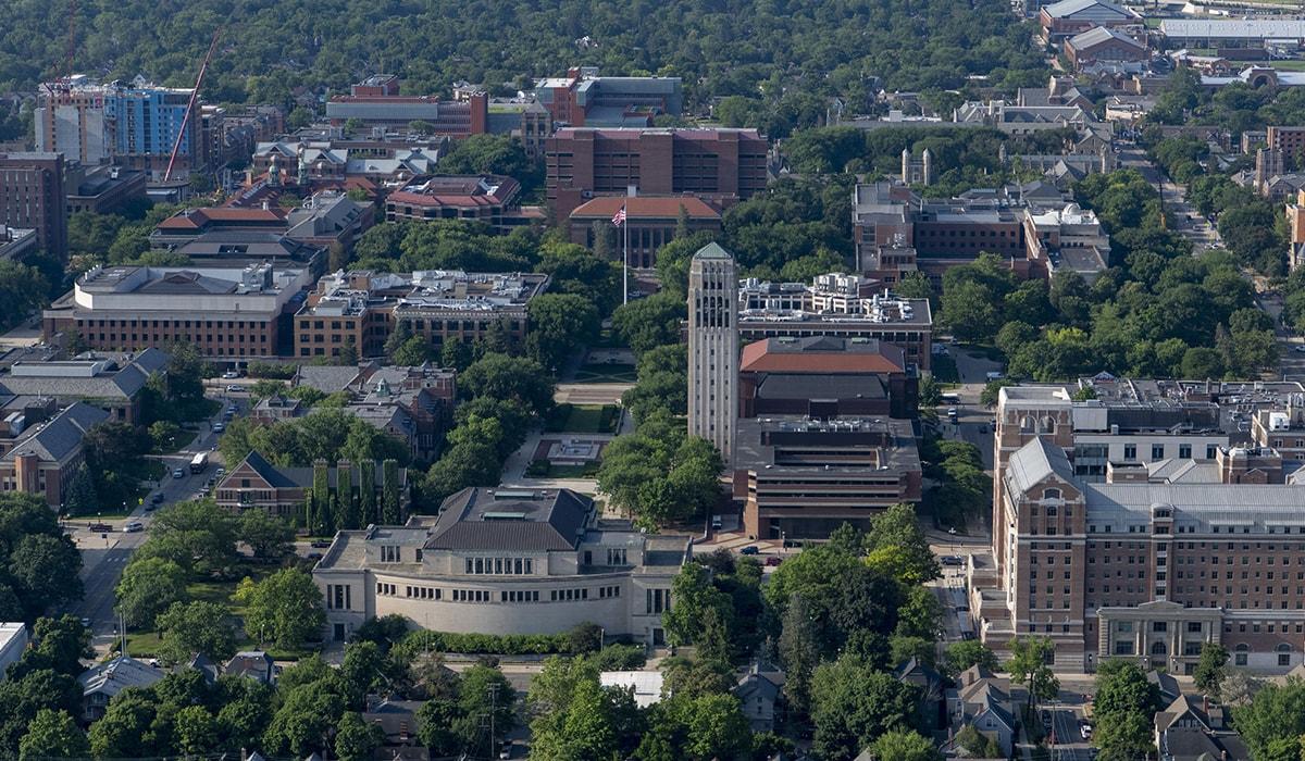 U-M Campus Aerial