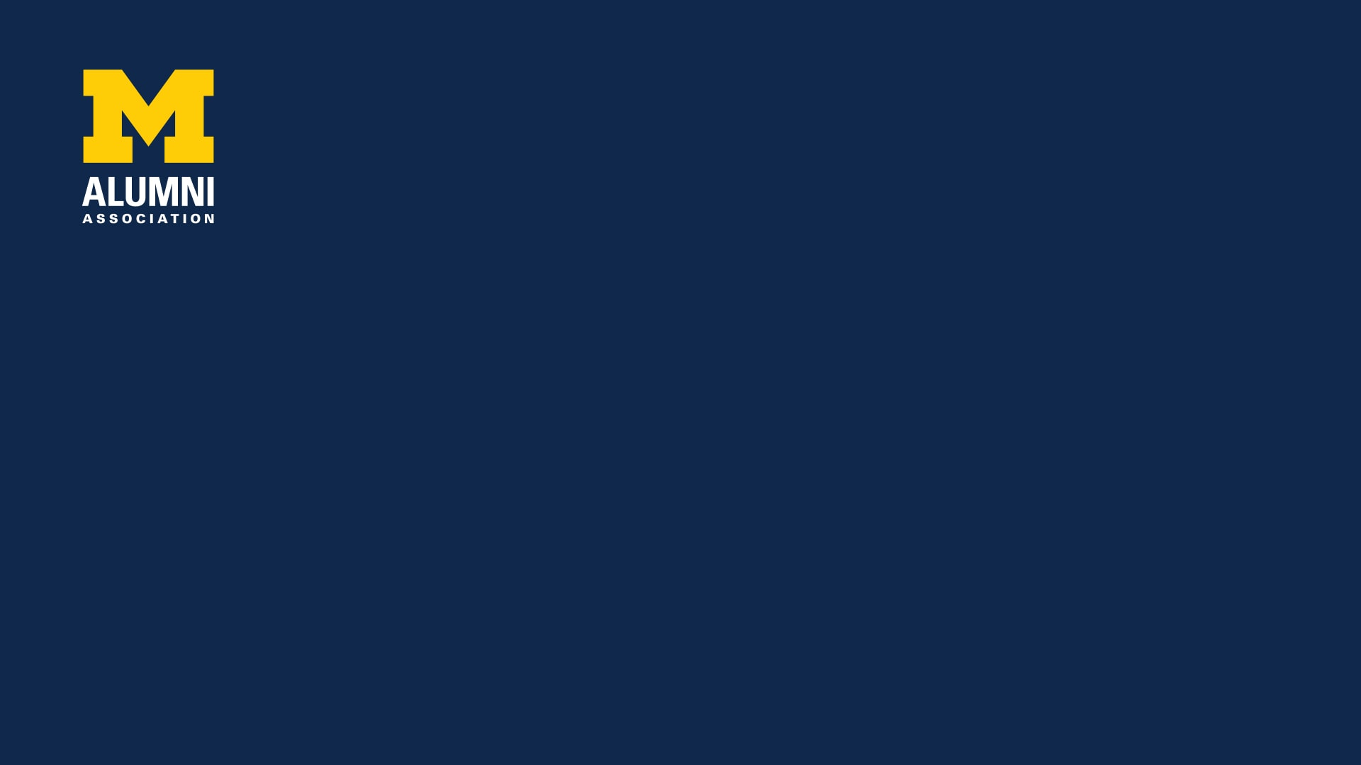 Alumni Association logo on a navy background