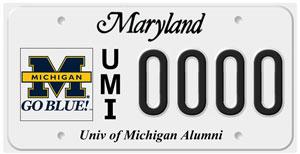 Maryland plate
