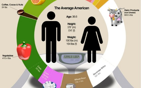 Average American Diet – Infographic