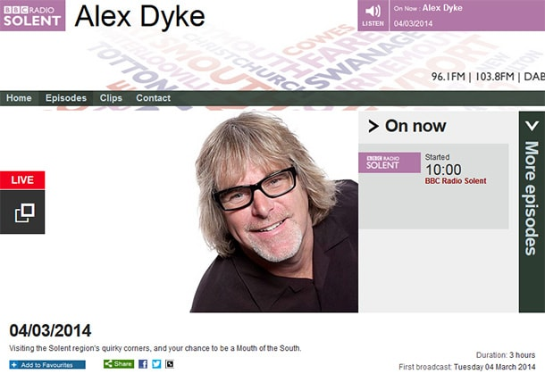 Image-restore talking photo restoration on BBC Radio Solent today
