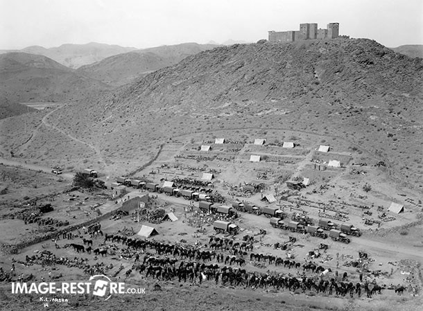Ladhay camp, Waziristan, with British soldiers