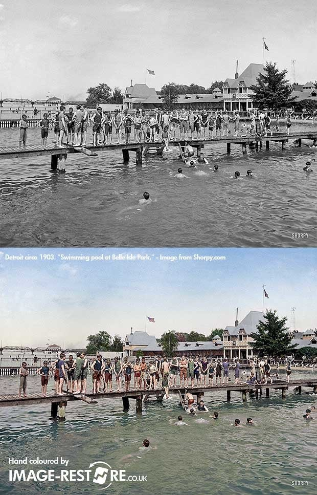 Using colour references and accuracy with research when colouring old photos