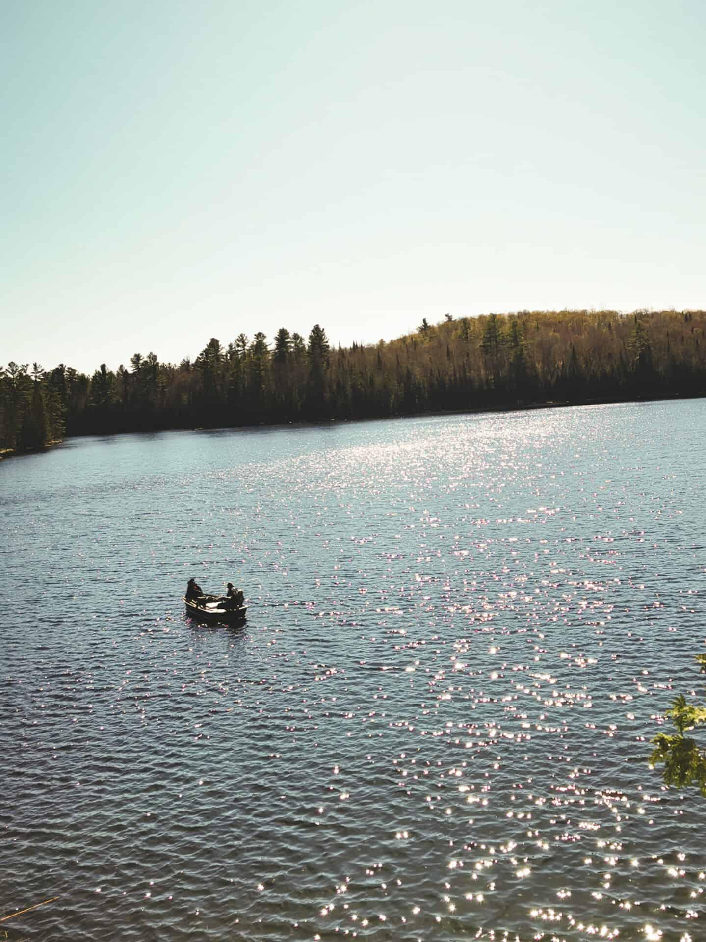 pêcheurs sur le lac Gaucher