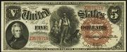 1880 $5 Legal Tender Brown Seal