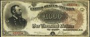 1890 $1000 Treasury Note Brown Seal
