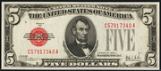 1928A $5 Legal Tender Red Seal