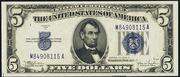 1934C $5 Silver Certificates Blue Seal