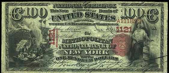 1875 $100