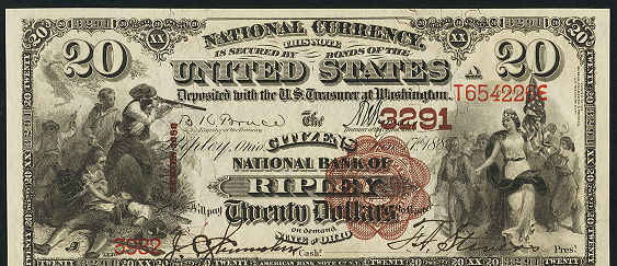 1882 \$20 Brown Back - Front