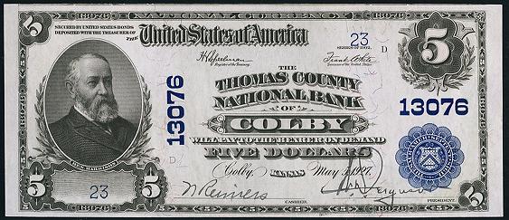 1902 \$5 Plain Back - Front