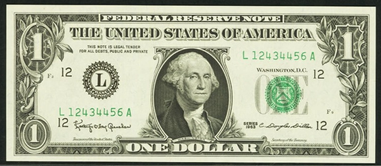 2009 One Dollar Federal Reserve Note